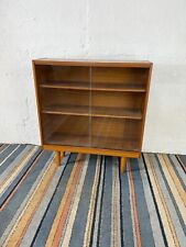 Vintage Mid Century Wood Effect Drinks Display Cabinet Book Case with Dansette L