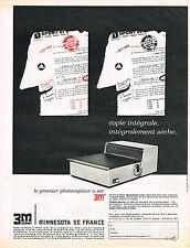 PUBLICITE ADVERTISING  1963    3M  MINNESTOTA DE FRANCE  photocopieur à sec
