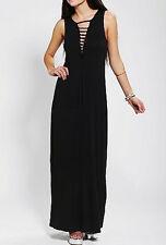Sparkle & Fade- Ladies Slashed V Front Maxi Dress S NEW!