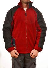 REGATTA DEFIANT MENS FLEECE JACKET LAVA RED BLACK WINDPROOF OUTDOOR  TRA520 E1