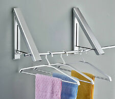 Multifunction Alimumim Clotheslines Laundry Hanger Wall Mount Clothes Dryer Rack
