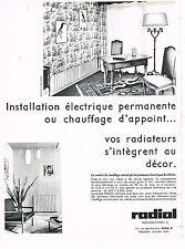 PUBLICITE ADVERTISING 054  1966   RADIAL  panneaux éléctriques chauffage central