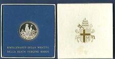 VATICANO Lire 500 MADONNA VERGINE Ag. regalo 1984 PROOF
