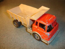 Old Vtg Antique Collectible Red HUBLEY Diecast Toy Dump Truck Made In USA