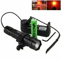 5000 Lm XM-L Q5 T6 Led Weapon Tactical Hunting Flashlight Mount Remote Switch