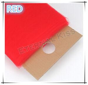 "NEW Soft Wedding Tulle Bolt 54""inch x 40yd(1.4m x 36m) - Red"