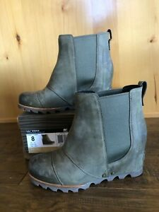 Sorel LEA WEDGE 8 Waterproof PEATMOSS  Original Style Ankle DISCONTINUED  RARE