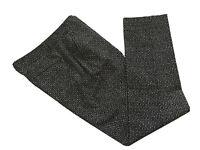 GAP Slim Crop Pants Black White Print Flat Front Stretch Women's Size 8 Tall