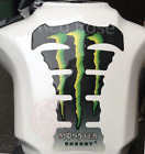 Monster Tank Pad Protector Green Black Motorbike Spine Sticker Motorcycle
