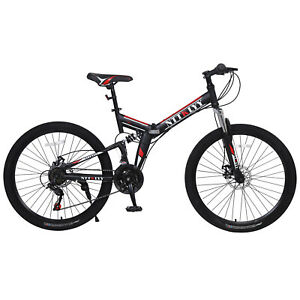 Mountain Bicycle with Front Suspension Adjustable Seat,21 Speed BIKE High-carbon Steel Hardtail Mountain Bike Bbdsj 26 Inch Mens Mountain Bikes