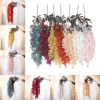 Artificial Fake Wisteria Vine Ratta Hanging Garland Silk Flowers