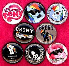Brony 8 NEW 1 inch buttons pins badge bronies MLP friendship is magic