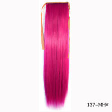 "22"" Claw/Clip in Gradient Pony tail Ponytail Hair Extension Smooth Straight Hair"