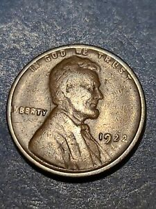 1922 Very Weak D Lincoln Cent circulated