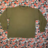 Vtg J CREW L Single Stitch Made In USA Long Sleeve T-shirt RARE Olive Green