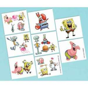 """SPONGEBOB SQUAREPANTS ""       Pack of 8 - Full or 16 Half Tattoos!"