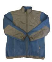 The North Face Girl's Blue & Gray Polartec Full Zip Denali Fleece Size XL