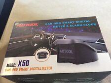 AUTOOL X50 Car OBD Smart Digital Multi-Fuction Meter KMH Speedometer Code Reader