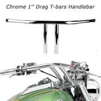 """Motorrad 25mm 1'' T-Bars Fat 11"""" Rise Chrom Lenker für Harley Sportster Dyna"""