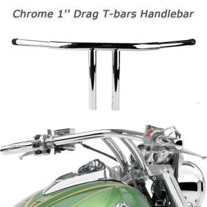 "Motorcycle 25mm 1"" T-Bars Fat 11"" RISE CHROME HANDLEBARS for Harley Sportster Dyna"