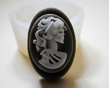 LADY DEATH SOAP SILICONE MOLD - SOAP BAR MOULD HALLOWEEN SCARY SKULL