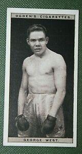 British Middle-weight Boxer  George West   Original Vintage Photo Card