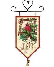 Cross Stitch Kit ~ Dimensions Cardinal Joy Christmas Mini Banner #8822