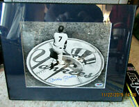 Rare Mickey Mantle Signed matted on deck circle 8x10 Yankees Photo  PSA DNA COA