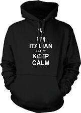 I'm Italian I Can't Keep Calm Carry On Italia Forza Azzurri New Mens Sweatshirt