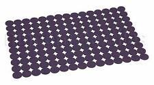 MODERN Pack of 2 Felt Mats PLACEMAT TABLE Mat Openwork RINGS VIOLET