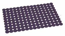 Paquete De 2 modernos Fieltro Esteras Mantel de Mesa Mat calado Anillos Violeta