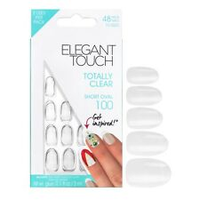ELEGANT TOUCH 48 totally clear  false nails in short oval 100