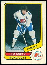 1976 77 OPC O PEE CHEE WHA #24 JIM DOREY EX-NM QUEBEC NORDIQUES HOCKEY CARD