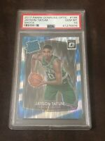JAYSON TATUM 2017-18 DONRUSS OPTIC #198 RC RATED ROOKIE SHOCK SP PSA 10 GEM MINT