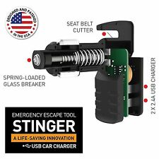 Ztylus Stinger USB Emergency Escape Tool Car Charger Window Breaker Belt Cutter