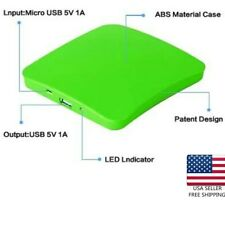 Solar Charger Portable USB Charger 1800/5200mAh All Glass Window  External
