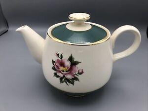 Homer Laughlin Eggshell Cavalier Empire Green Teapot with Lid