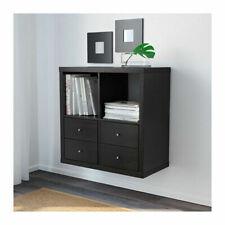 Ikea Kallax Shelving Unit Bookcase Shelf Display Black/Brown