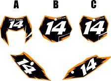 2012-2013 KTM 500EXC Custom Pre-Printed Black Backgrounds Orange Shock Series