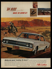 1964 OLDSMOBILE F-85 CUTLASS Car - Cowboy - Hat - Lasso - Calf - VINTAGE AD