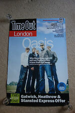OASIS RARE ORIGINAL  TIME OUT PROMO POSTER NOEL GALLAGHER