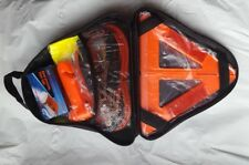Roadside Emergency Kit --Jumper Cables, Towing Strap & Self-Charging Flashlight