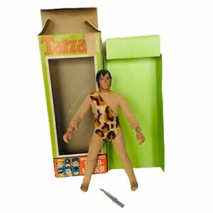 Mego Tarzan action figure toy vtg knife box ape man worlds greatest heroes 1305