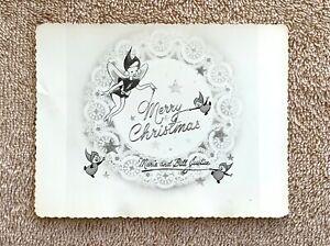 Rare Vintage Disney Animator & Disney Legend Bill Justice Merry Christmas Card