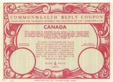 Canada Commonwealth International Reply Coupon IRC