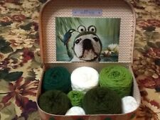 Job Lot Wool Dk Made Into Cakes In Crafted Sass & Belle Crafted Case