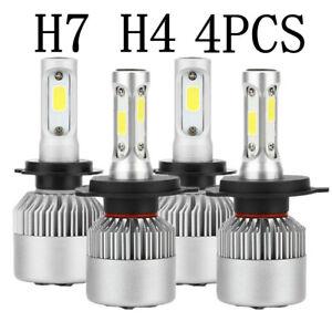 2Pair H4 H7 LED Headlight Kit Bulbs Globes Lamp For Ford Falcon BA BF FG XR6 XR8
