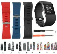 Silicone Rubber Replacement Band Wrist Strap Wristband Tool Kit For Fitbit Surge