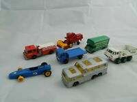 Lesney Diecast lot--Vintage Matchbox series-Made in England--7 trucks, vans