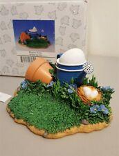 Fitz & Floyd Charming Tails 2002 Garden Display Scene Special Edition Nib